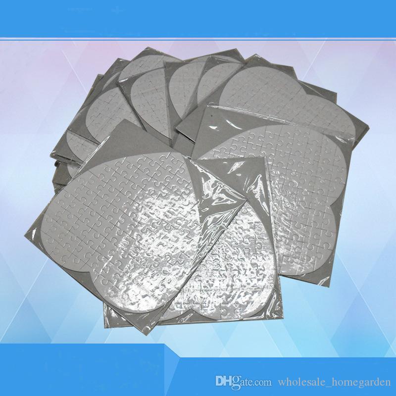 Leere herzförmige Sublimation Puzzles Leere Perle Puzzle Hochzeit Geburtstag Valentinstag Party Favor und Geschenk QW9756