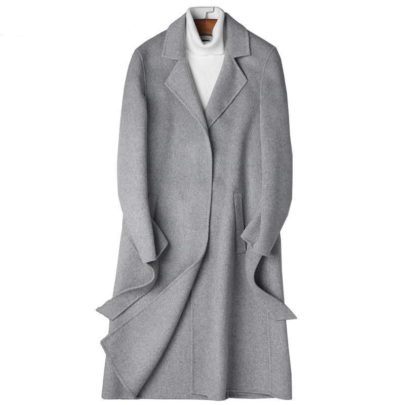 Handmade dupla face casaco de lã casaco de Inverno Casaco Comprido outono Vestuário 2,019 Men Overcoat Abrigo Hombre 81Z8809 MY801