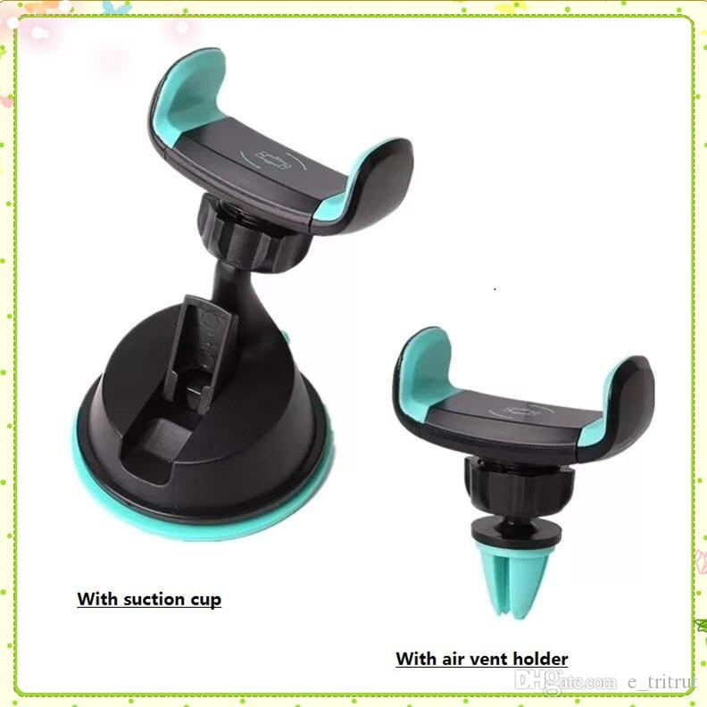 New Car universale Phone Holder stand Air Vent e ventosa Supporto del supporto per il telefono di sostegno del basamento in Accessori auto mq50