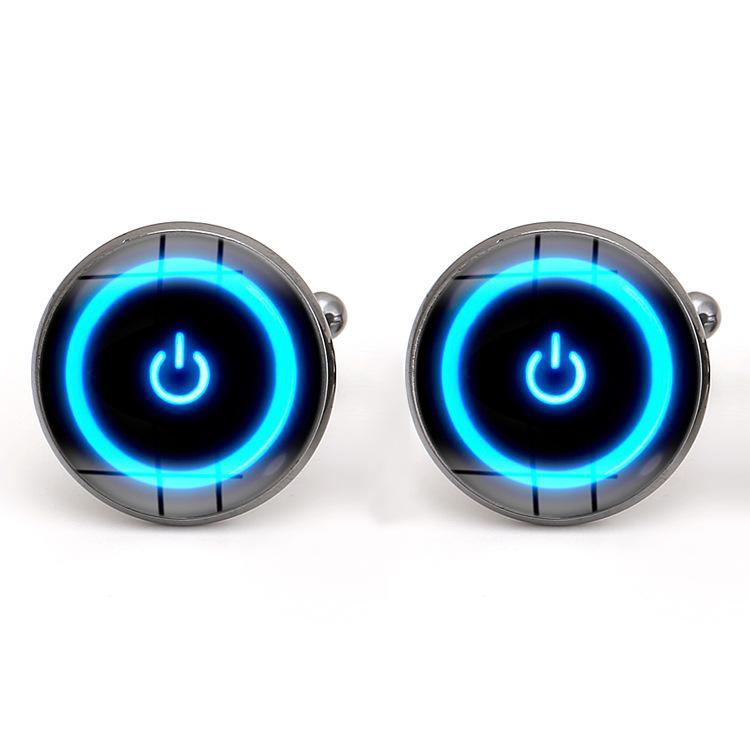 Zaman Mücevher Kol Düğmeleri Yaratıcı Güç Düğmesi Tasarım Kol Düğmeleri erkek Kol Düğmeleri Takı babalar Günü Hediye Moda Takı GGA2460