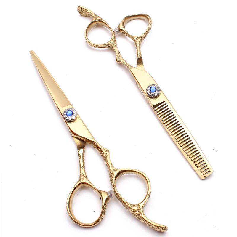 """50Pcs 5.5"""" JP 440C Personnaliser Ciseaux de coupe Ciseaux Ciseaux Dilution de professionnels Coiffeur Salon de coiffure C9002"""