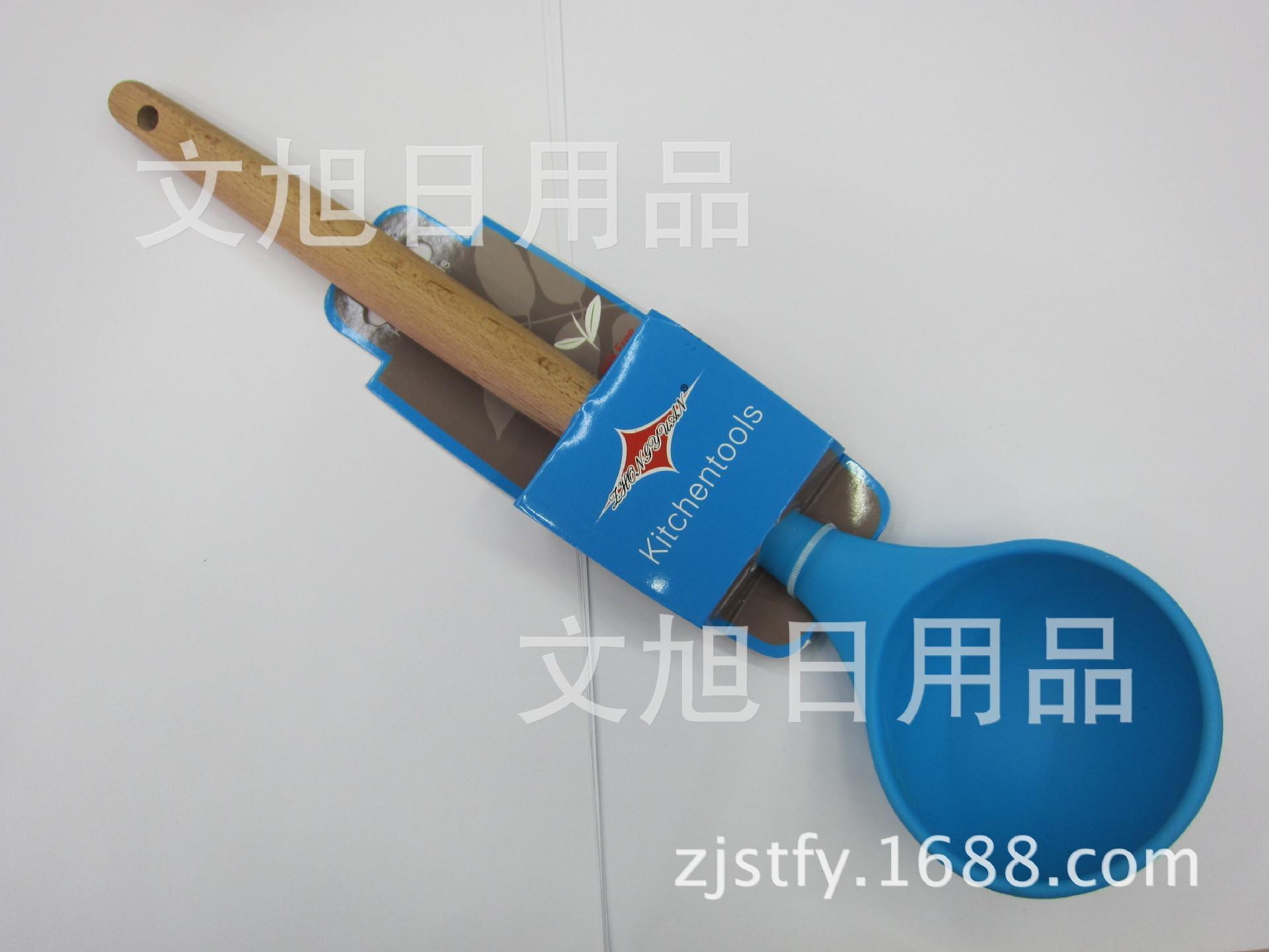 Spot Supplies Bang Card Manico in legno Gel di silice Resistente alle alte temperature Un cucchiaio da minestra