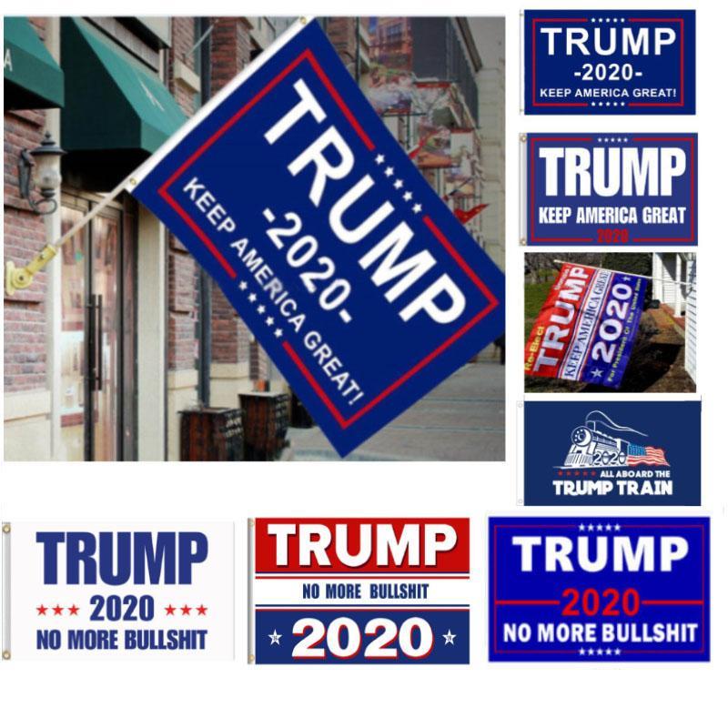 5 Estilos Trump 2020 Bandera de Donald Trump Bandera mantener a Estados Unidos Gran Donald para el presidente Campaña Tren Banner 90 * 150cm Jardín Banderas FHH7-1988