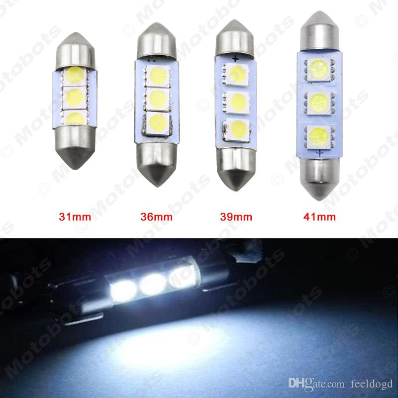 TOYOTA 39MM 5050 3 SMD LED Festoon Dome Light Interior Lamp Bulb