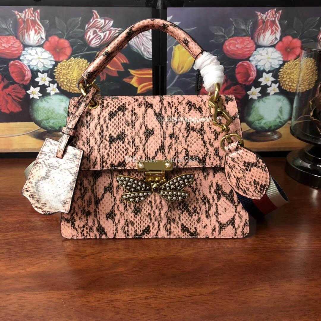 Nouvelle boîte de correspondance sac chaîne achats bouton aile en cuir de serpent de haute qualité sac de créateur de mode sac à main banquet dames épaule 25.5x17x13cm