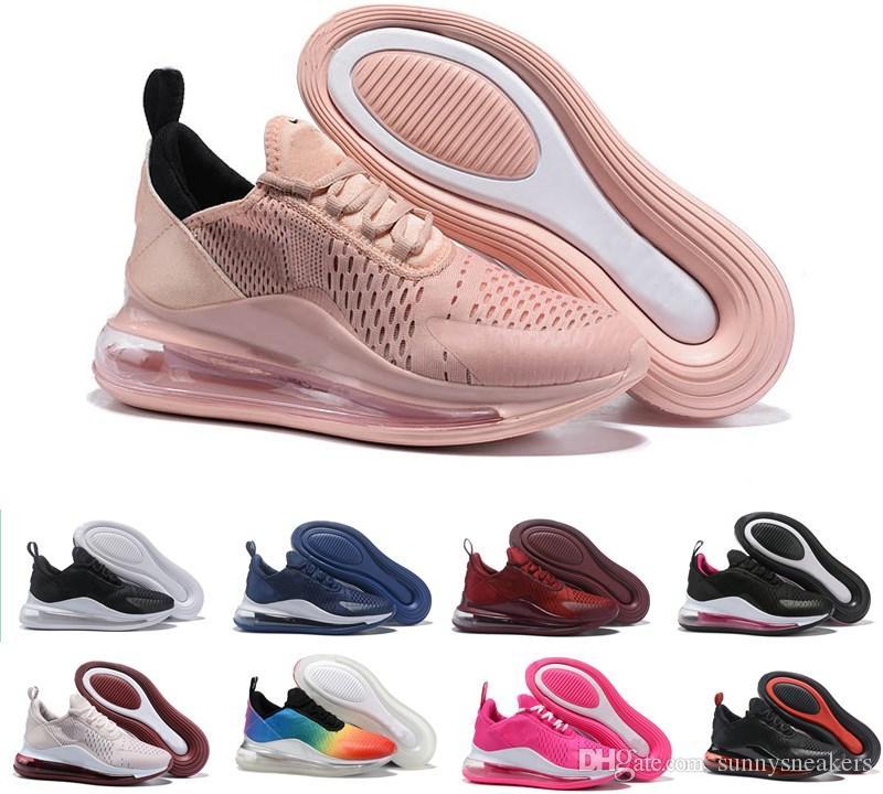 Compre Nike Air Max 720 Airmax 720 Air 720 Basic Leather Casual Shoes  Hombres De Moda Baratos Negro Blanco Rojo Golden Skateboarding Sneakers  Tamaño ...