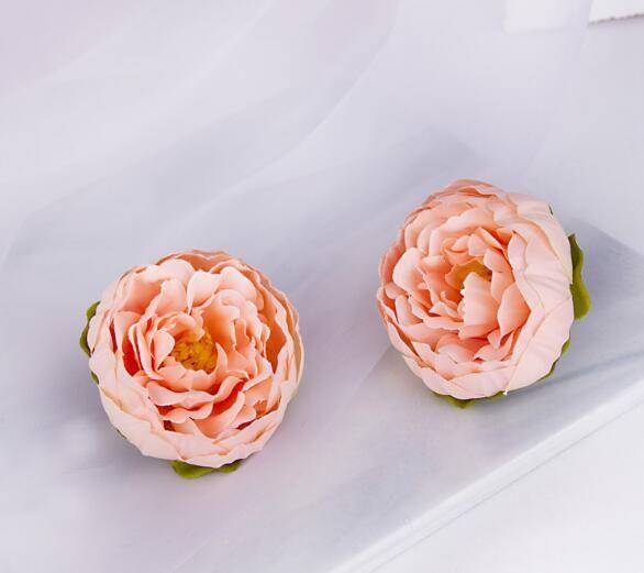 Flor simulação Peony Europeia Peony laço Wedding Flor decorativa Simulado Silk Flower WL432
