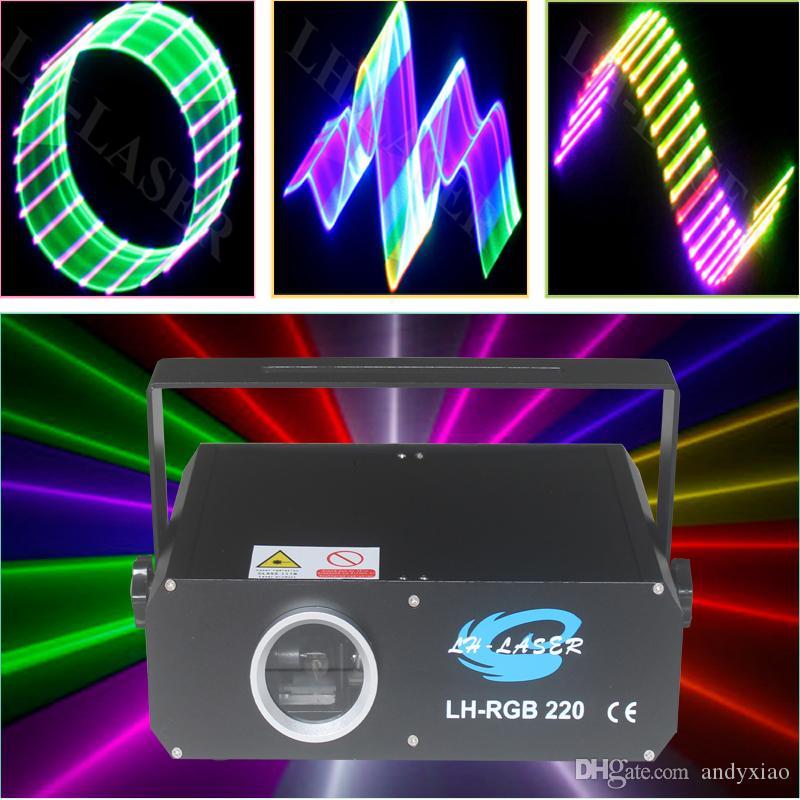 Scheda SD Illuminazione laser 3D con Ilda e DMX512 Outdoor Christmas Disco a disco Proiettore logo