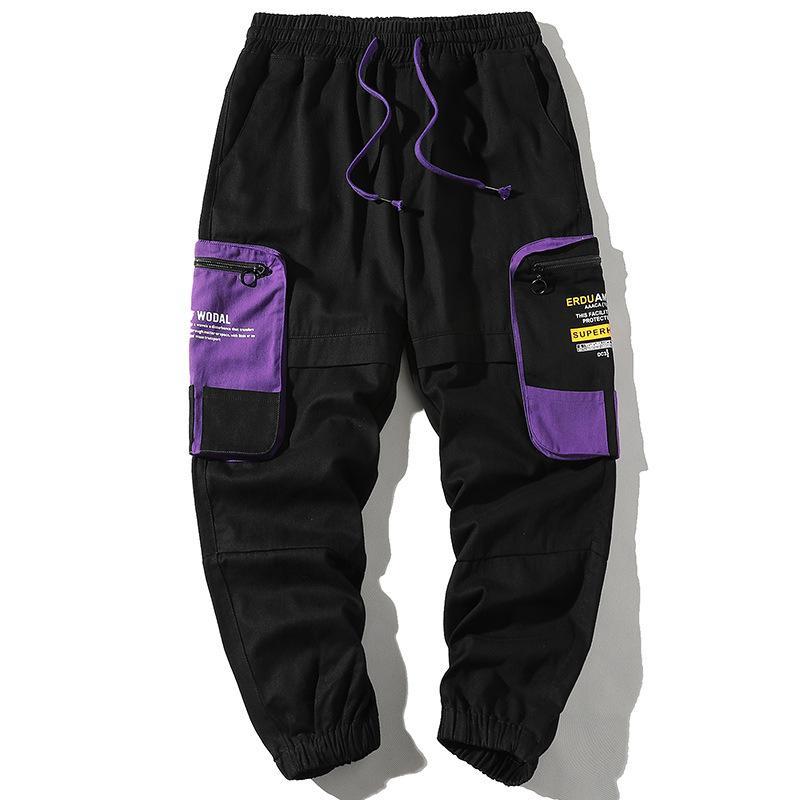2020 Moda Streetwear Erkekler Jeans Üst Kalite Casual Kargo Pantolon Erkek Harem Pantolon Yeşil Tasarımcı Hip Hop Pantolon Koşucular