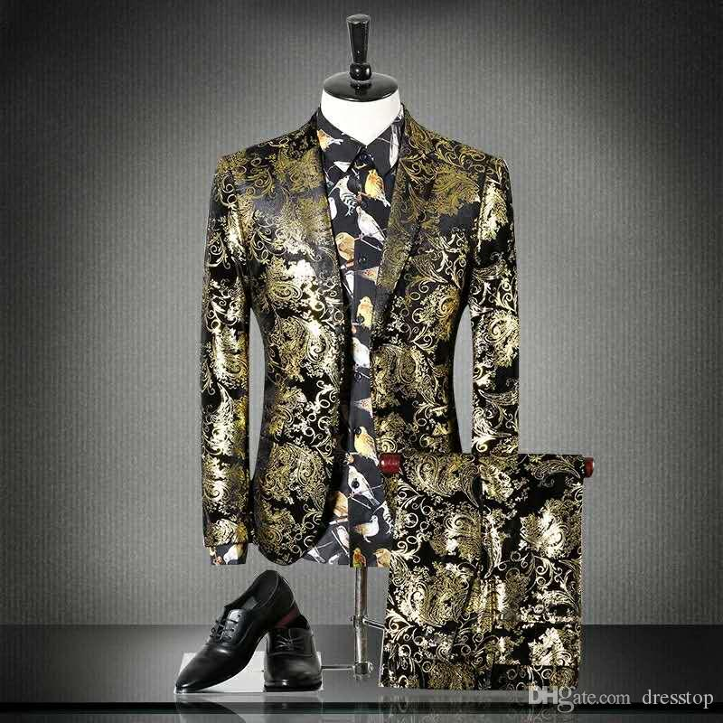 2019 Beach Groomsmen Tuxedos Peaked Lapel Two Pieces Lace Pattern Suits Wedding Tuxedos Custom Made Suit Mens Prom Gowns