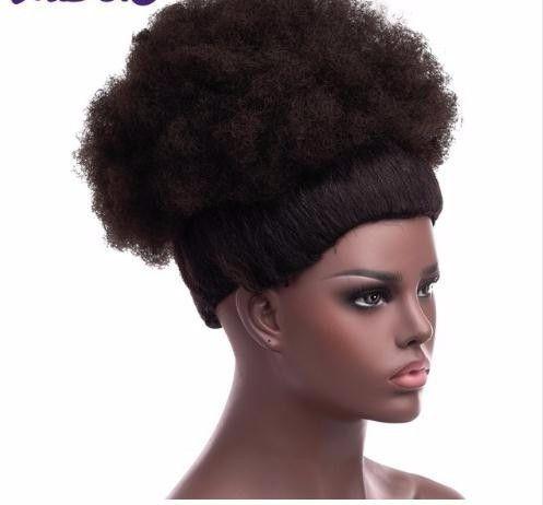 Moda 2019 sintético chignon rabo de cavalo encaracolado curto afro crespo kinky envoltório cordão sopro extensões de cabelo da cauda