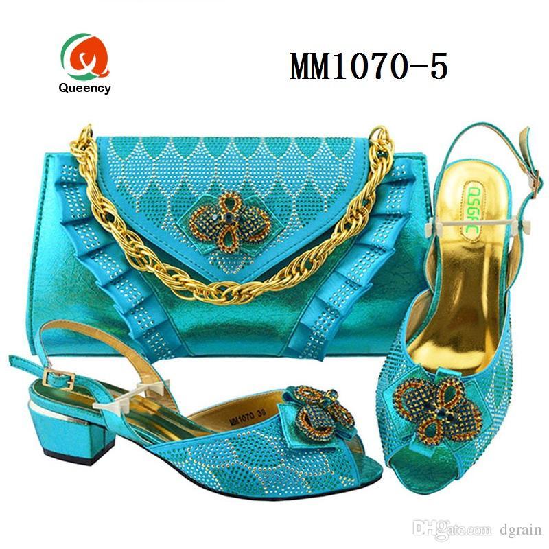 Dgrain Hochwertige Mode Ankara Taschen und Schuhe Designs für Frauen Taschen An Schuhe