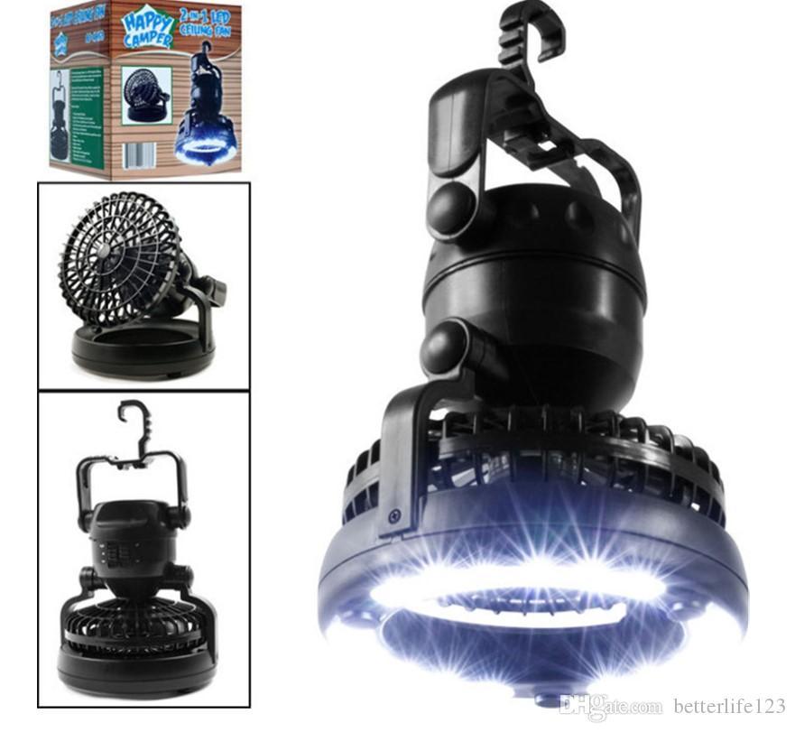 Acampan al aire libre Portable 18 LED del ventilador Luz linterna multifunción Carpa Lámpara colgante Lanterna