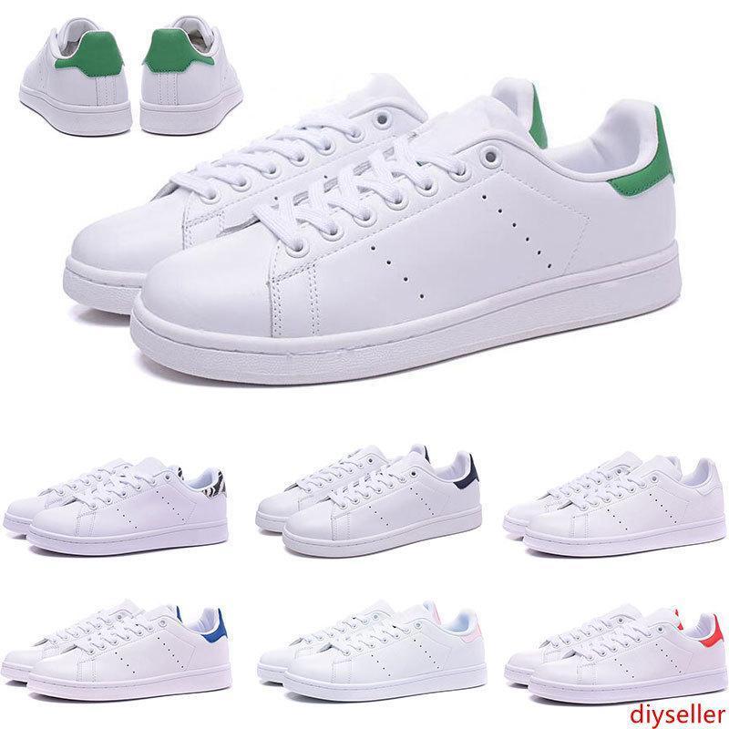 2019 Designer stan chaussures de mode smith hommes fille femmes vert noir rouge bule casual En Cuir Sport sneakers Chaussures Taille 36-45