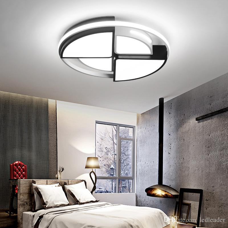 2021 Geometric Round Master Bedroom Ceiling Lamp Simple Modern Atmosphere Home Led Lighting Personality Creative Warm Study Lamps I227 From Ledleader 101 31 Dhgate Com