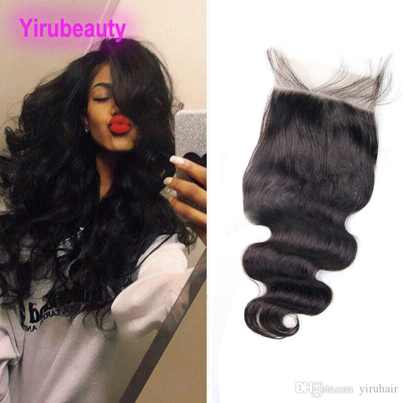 Brésilien Virgin Hair 6x6 Dentelle Fermeture Free Moyen-Top Top Top Dentelle Fermeture de la dentelle 10-24inch Produits de cheveux humains six par six Taille