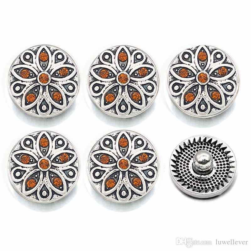 Luwellever 043 de 12 mm de cristal del metal 3D Snap Botón para la pulsera intercambiable collar resultados de la joyería de las mujeres Accessorie