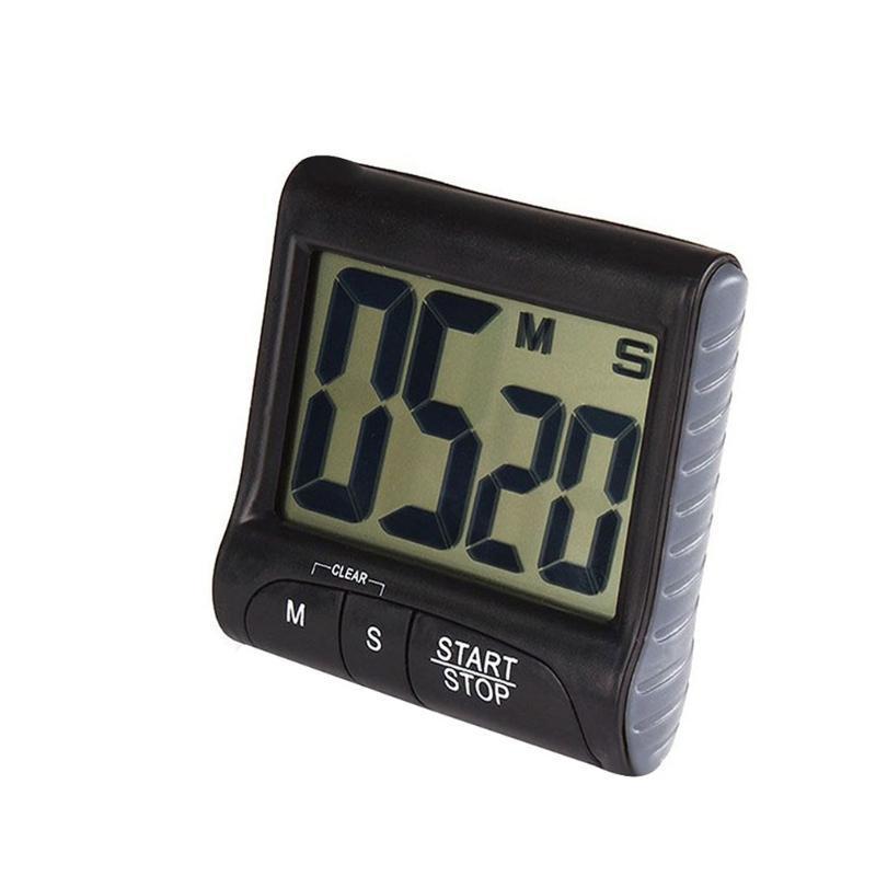 -Button Big Three Design Digital temporizador eletrônico temporizador de cozinha lembrete Multi-função tela grande