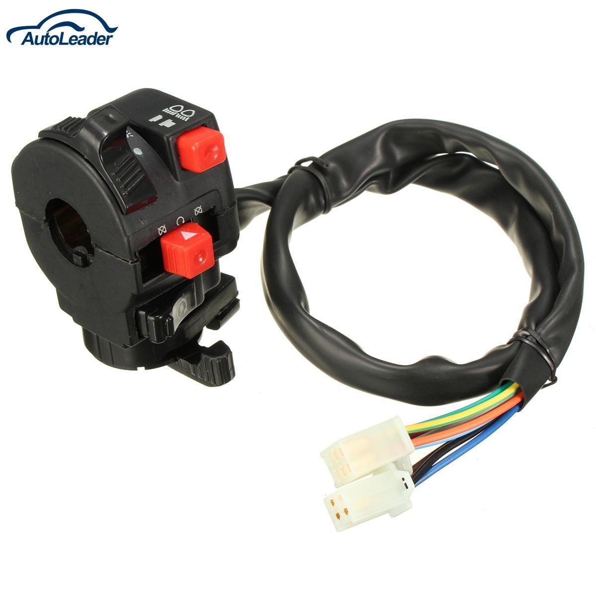 Freeshipping Left Control Switch For Most Chinese ATV Mini Quad Headlight Throttle Bean Light