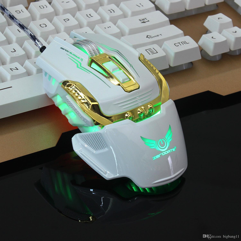 Акция ZERODATE X900 Проводная игровая мышь с 4-уровневым регулируемым DPI LED Light Game Pro Gamer Компьютерные мыши для ноутбуков с ПК