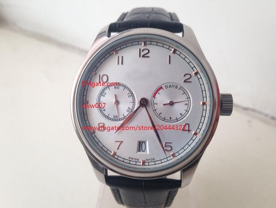 Fornecedor frete grátis Fábrica movimento de pulso IW500125 Automatic Mens Watch Watches 42 milímetros White Dial relógios de pulso