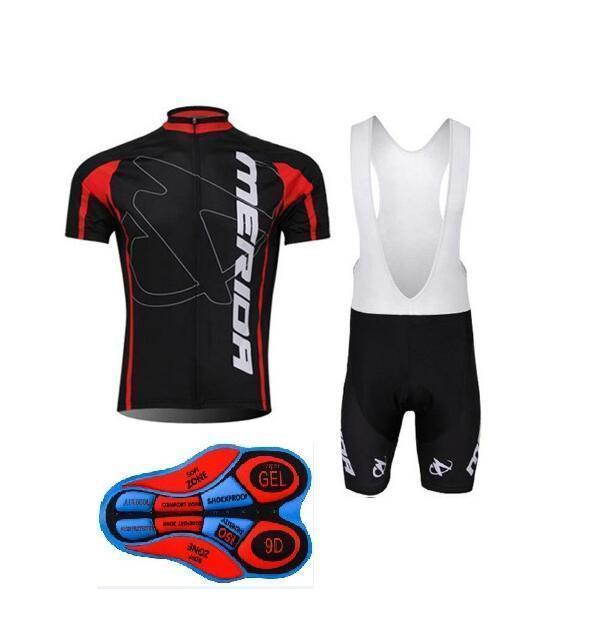 2020 새로운 메리다 자전거 반팔 저지 (턱받이) 반바지 세트 최신 짧은 소매 로파 Ciclismo 험 브레 슈트 패션 편안한 착용