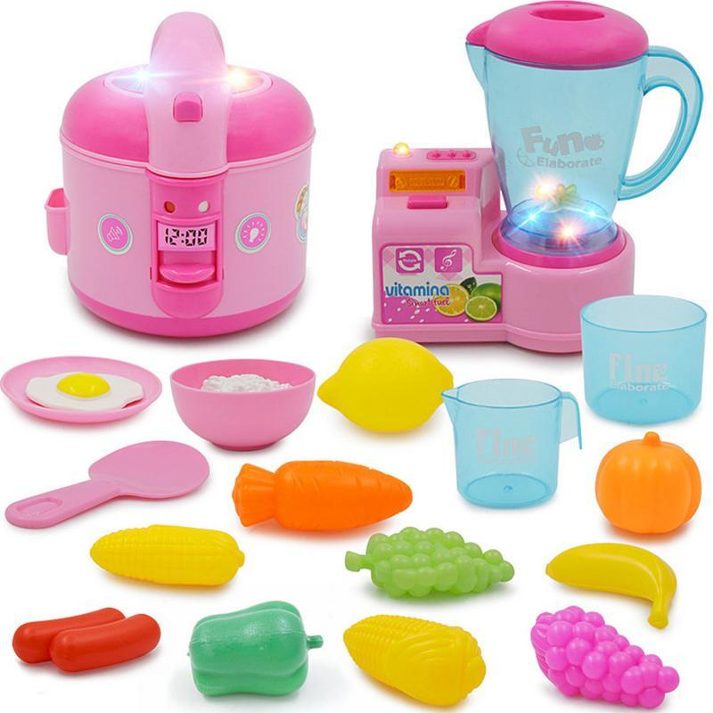Классические Кулинарные Игрушки Для Детей Притворись Play Rice Cooker Food Set Дети Кухня Развивающие Игрушки Play House Игрушки Для Девочек