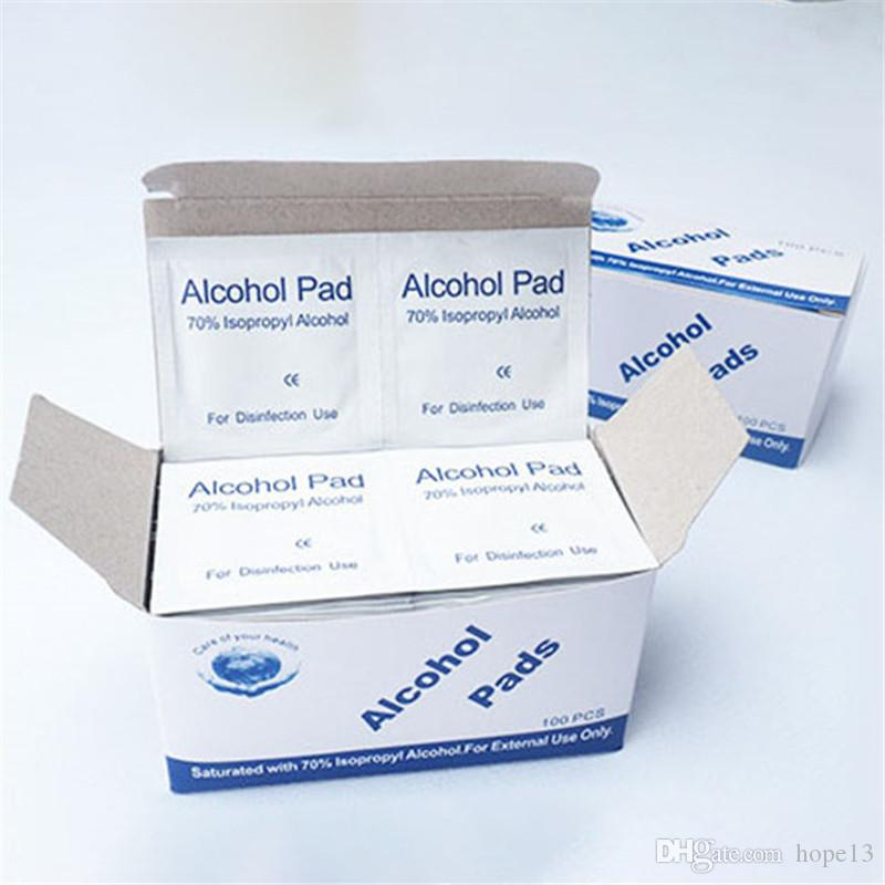 100pcs/lot Alcohol Prep Swap Pad Wet Wipe for Antiseptic Skin Cleaning Care Clean
