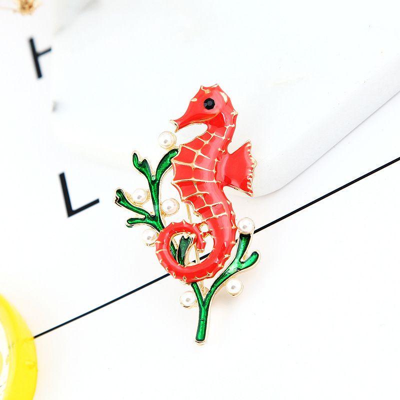 Adorável vazamento de óleo Um Hippocampus Exquisite Broche All-jogo Corsage Personalidade Pin