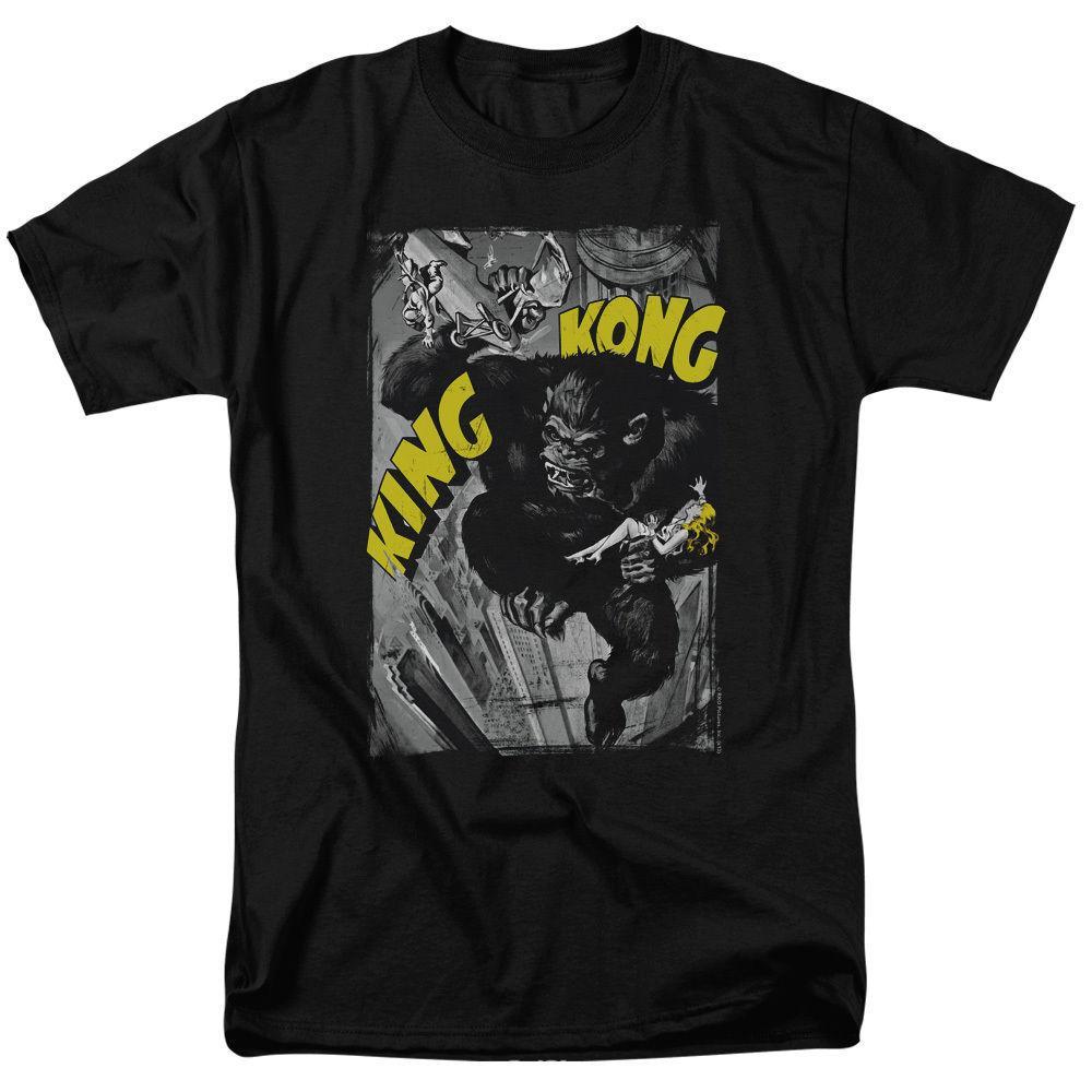 King Kong camiseta de póster aplastante Tallas S - 3xl Nueva camiseta Hombre Negro de manga corta de algodón Hip Hop Imprimir camiseta camisetas 2019
