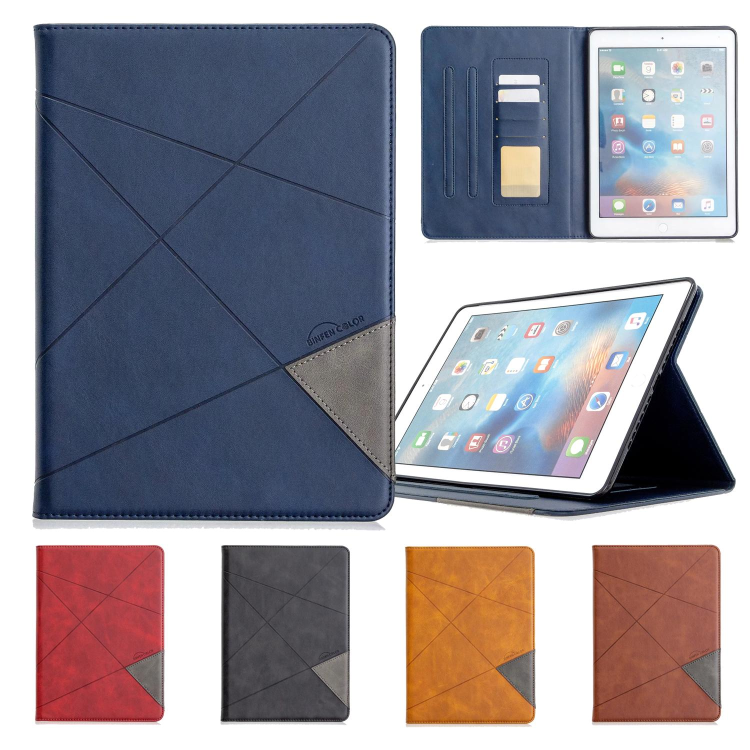 Leather Tablet Case for iPad Mini 1/2/3/4/5 iPad Pro 11 2019 iPad Air 1/2 9.7 2017/2018 Multi Card Slots Samsung Tab A 8.0 T290 Cover Case