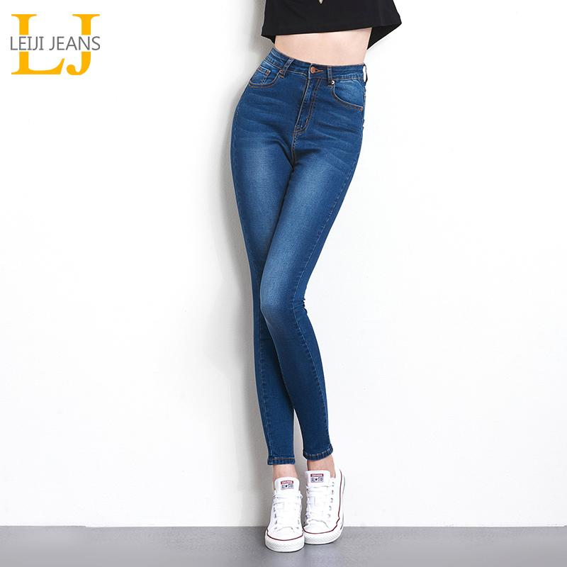 Jeans für Frauen mom Jeans High Waist Woman High Elastic plus size Stretch weiblichen gewaschenen Denim Skinny Bleistifthosen