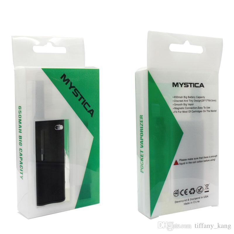 Airistech Mystica mini Box vaporizer starter kit 650mah Vape Mods 510 O pen G2 Atomizer Cartridge vape & Bin e-cigs mini kit