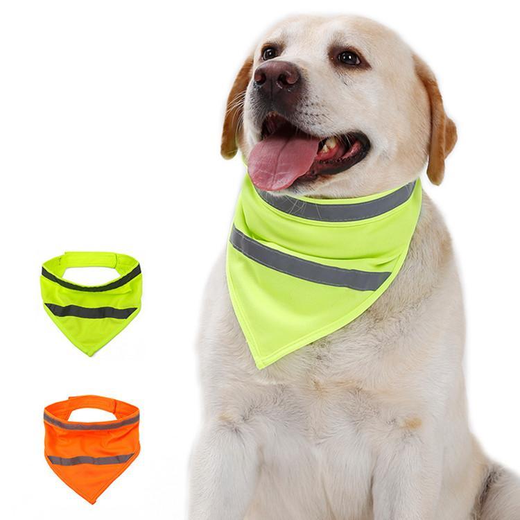 Reflektierende neuer Hund Reflective Schal Sicherheit Pet Schal Neon Haustier Bandana Ajustable Katze Schal Pet Halstuch Schutzanzug T2I51083