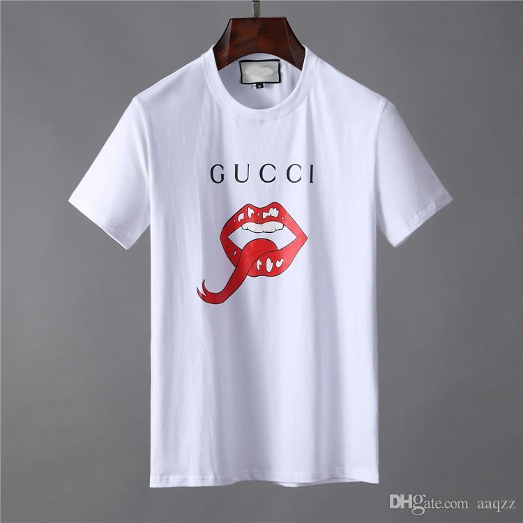 Tendencia de la moda de verano la camiseta de la causalidad de Hip Hop T camisas para hombre camiseta diseñadores FF629