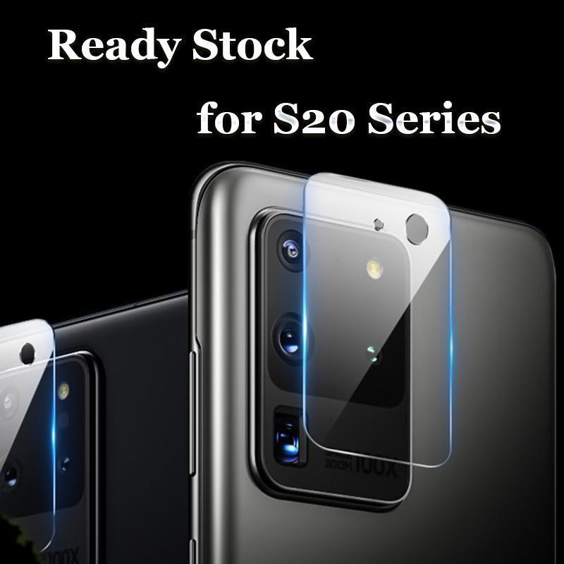 Película de protector de pantalla de vidrio templado de lentes de cámara trasera para Samsung Galaxy S20 Ultra S10 S9 S8 Plus iPhone 11 Pro Max X XR XS MAX