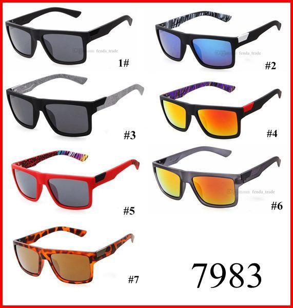 HOT-Sommer-Sonnenbrille Designer Frauen Sport Strand Sonnenbrillen Volle PC-Rahmen aus Metall 7 Farben schnelles Schiff 7983 MOQ = 10PCS Gafas De Sol schnelles Schiff