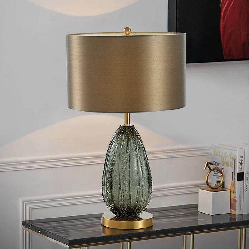 2019 Modern American Simple Gray Green Glass Table Lamp Villa