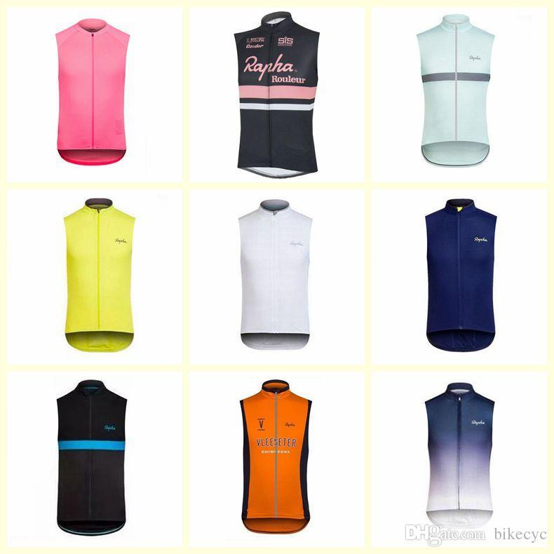 RAPHA ekibi Bisiklet Kolsuz forması Yelek Sıcak Satış nefes ve çabuk kuruyan dağ Bisikleti Giysi ücretsiz teslimat U71823