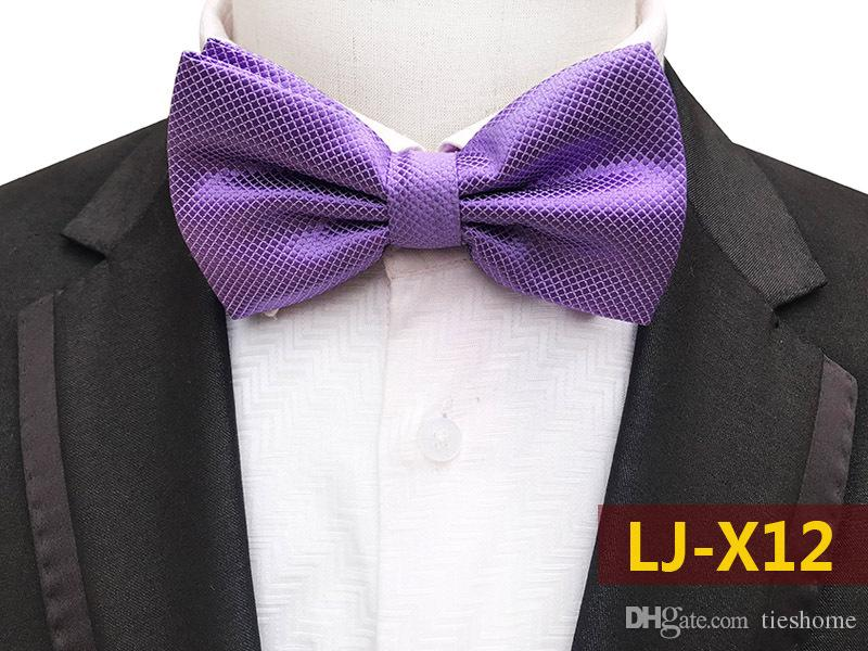Purple PreTied Mens Bow Tie BowTie Pre Tied Adjustable Dickie Wedding Prom New