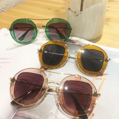 Little Bee Circle Retro Star Nethong Sunglasses (Compre 10 y envíe una gafas)