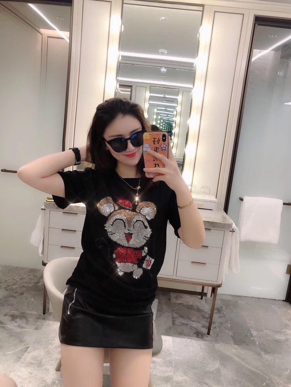 2020 new ladies short-sleeved top quality fashion T-shirt J1FBN0EP