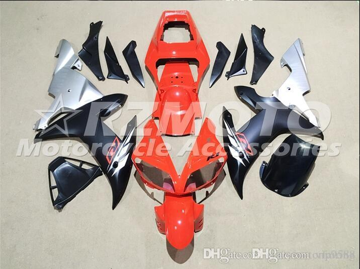 3 Free Gifts New Motorcycle Fairing Kit for YAMAHA YZFR1 02 03 YZF R1 2002 2003 YZFR1000 yzfr1 02 ABS Red Black G1