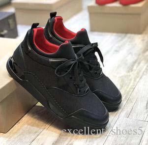 (Оригинальная коробка) красные нижние мужские кроссовки Aurelien Flat Lovers натуральная кожа высокий топ повседневные квартиры Красное дно роскошные туфли размер: 35-46 s5