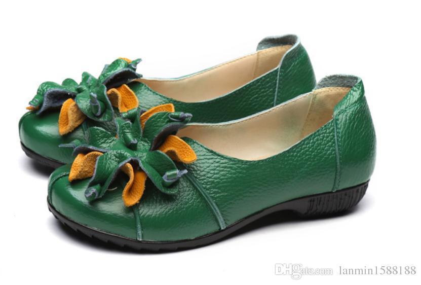여성 신발 봄과 가을 평면 바닥 라운드 헤드