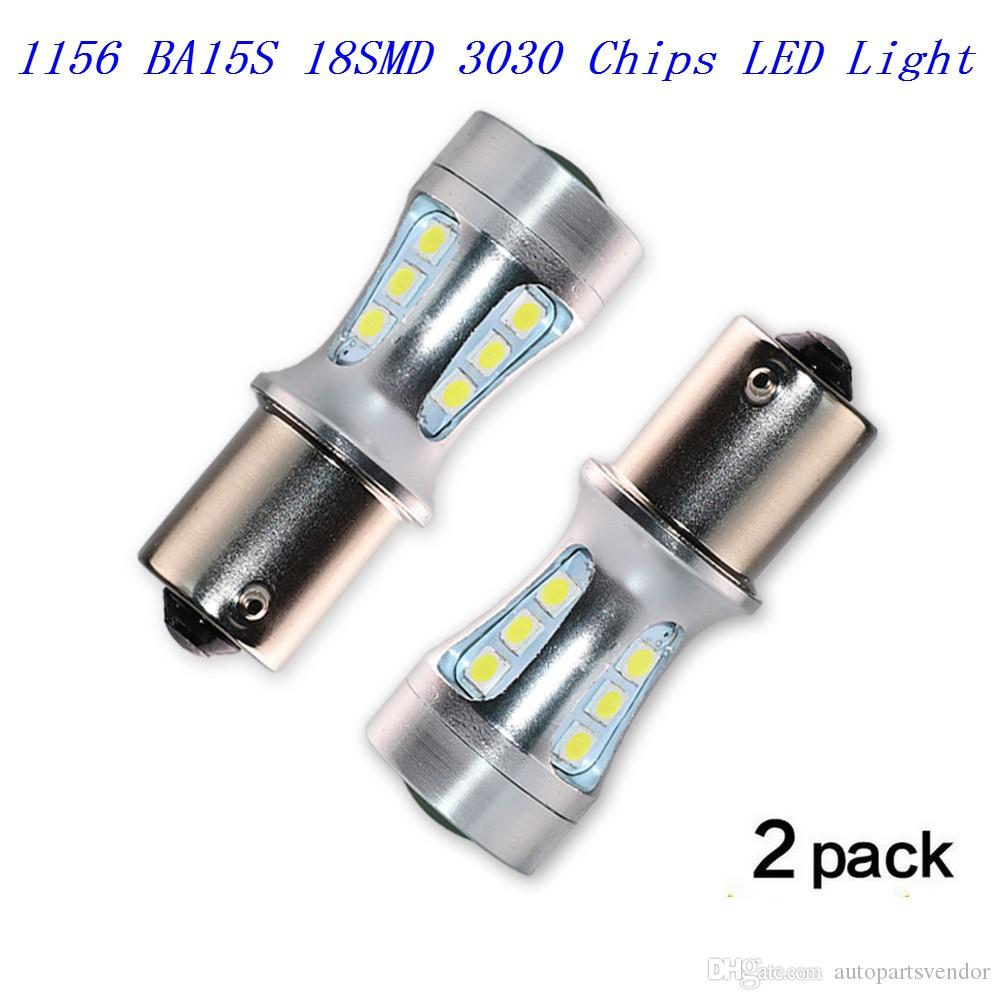 2PCS 2PCS 1156 1003 1141 BA15S 18-SMD 3030 Chips LED Light Fo LED Light For Car Brake Lights Reverse Lamp DRL Car Tail Bulb RV Camper light