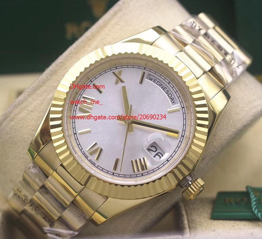 Dial Fornitore lusso libero fabbrica di orologi di alta qualità 41 millimetri 228235 Oro dell'Asia 2813 movimento meccanico automatico da uomo Orologi Bianco