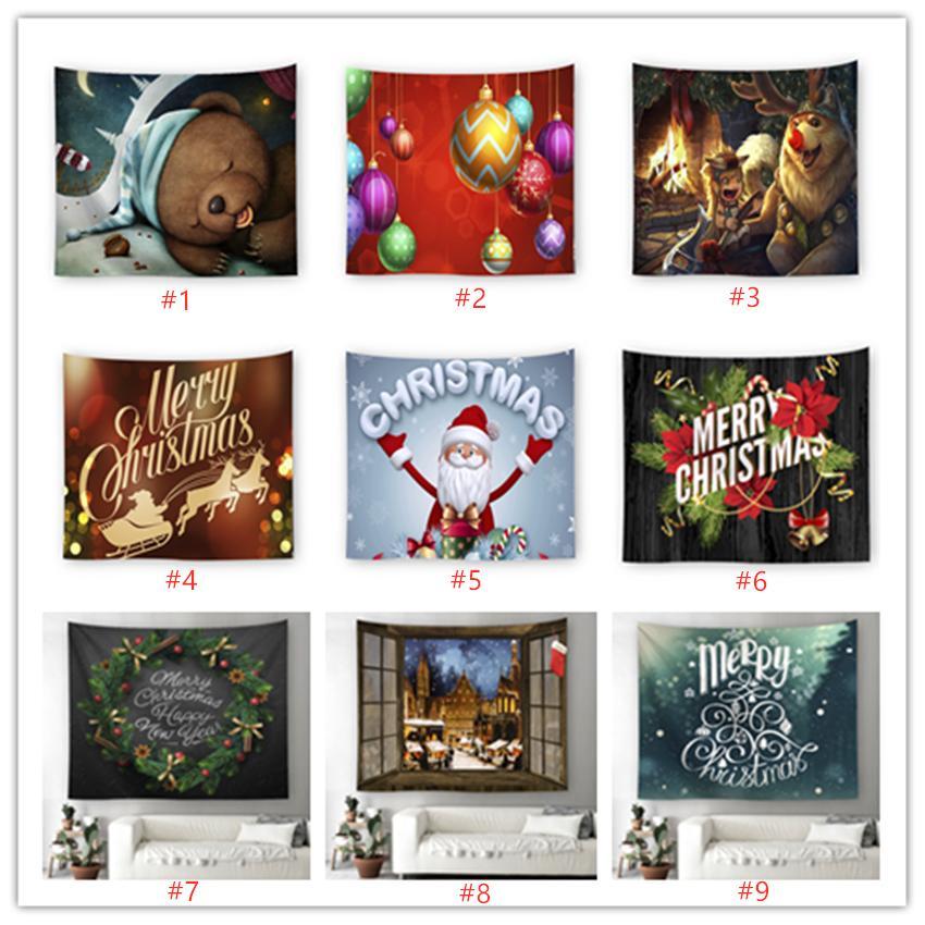 Santa Claus impreso hogar tapicería de la pared colgante para la decoración de Navidad salón dormitorio decoración de la pared A07
