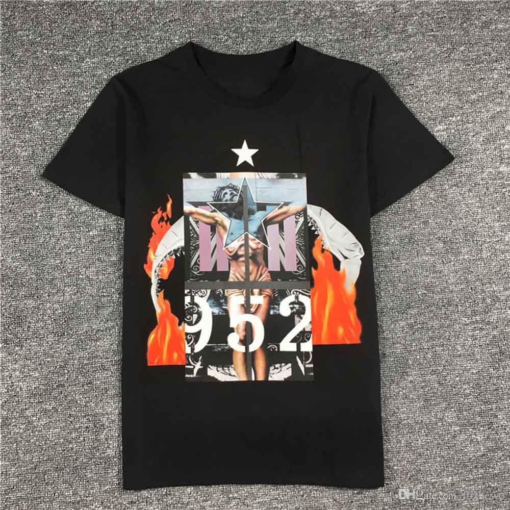 New Men Designer T shirt mulheres Paris marca clothing Tshirt 952 Jesus crucifixão impresso T-shirt de Alta qualidade 100% algodão masculino Top Tees