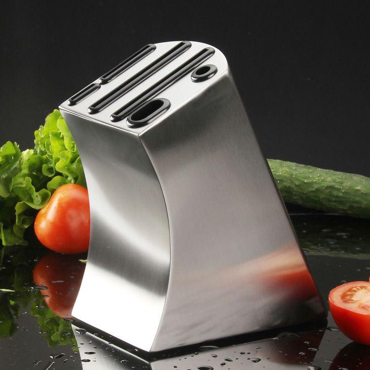 Porte-couteau en acier inoxydable support de rangement pour la cuisine petit porte-couteau incurvé